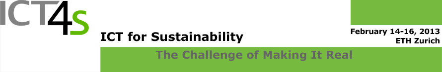 ICT for Sustainability - The Challenge of Making It Real